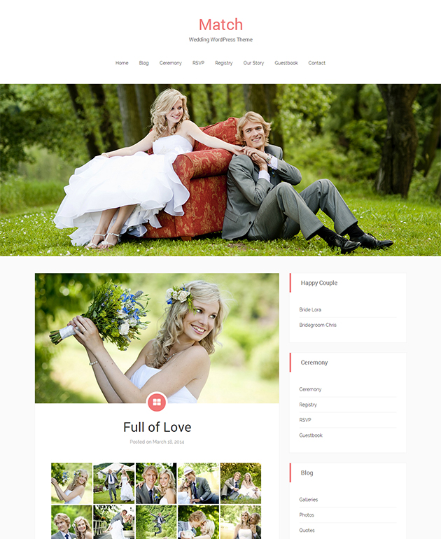 Wedding Free WordPress Theme