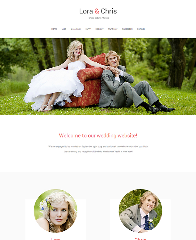 Match Wedding Website Themes