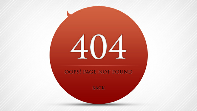 404 Error Page Design - free 404 error page website templates