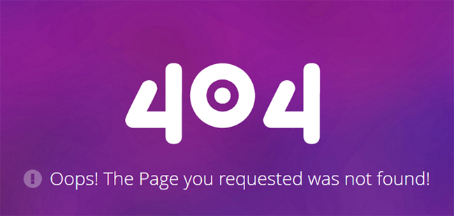 404 Error Page Responsive Web Template