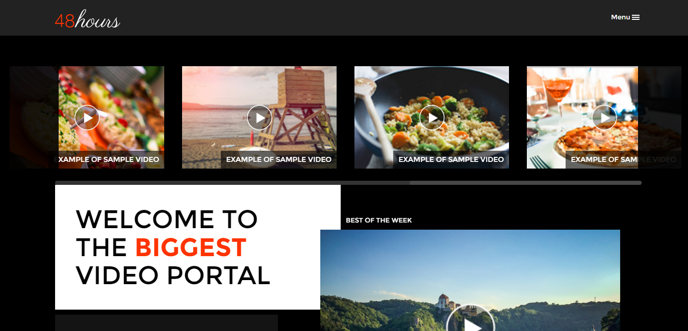 48Hours - Video Sharing Responsive WP Theme