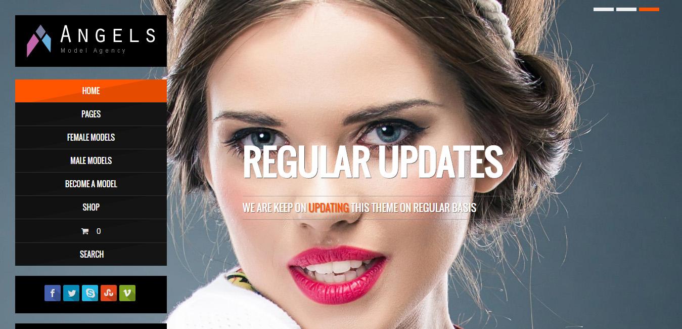 Angel - Fashion Model WordPress CMS Theme