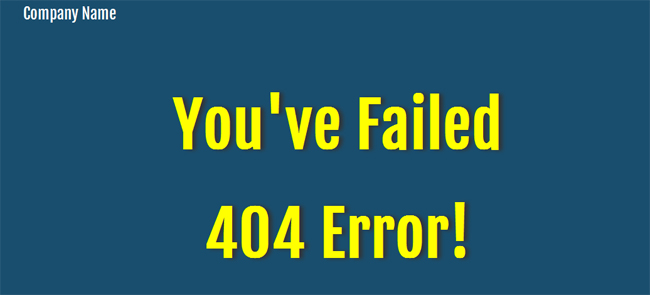 Blue Pattern 404 Page Not Found