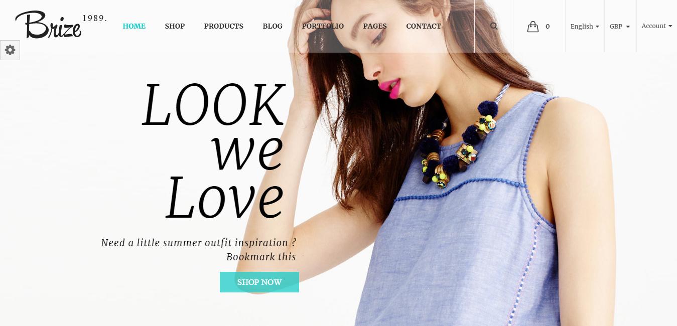 Brize - Responsive WooCommerce Fashion Theme
