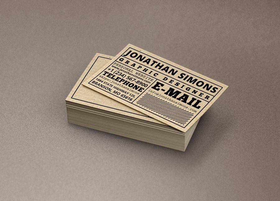 20 Best Textured Business Card Designs 2017