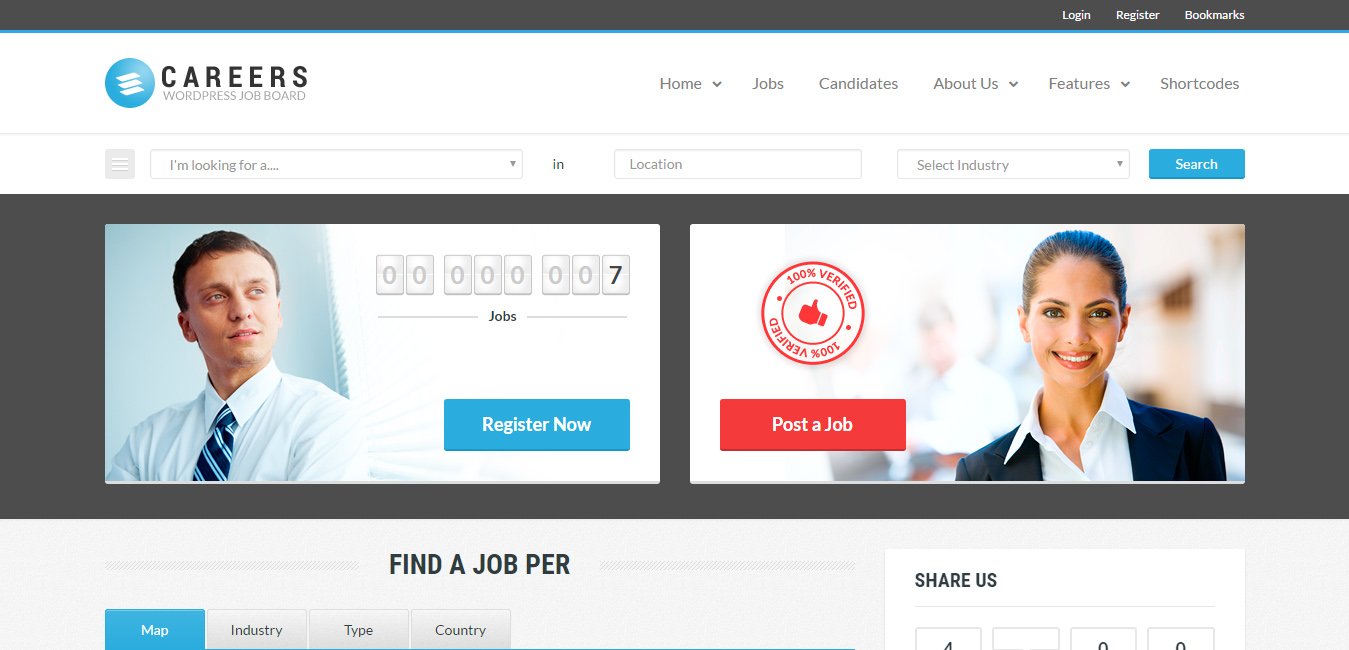 Careers - Job Portal & Candidates WP Theme