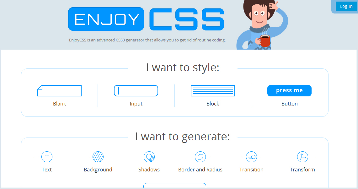 Enjoy CSS - css code generators for web developers