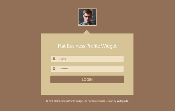 flat-business-profile-widget-responsive-template