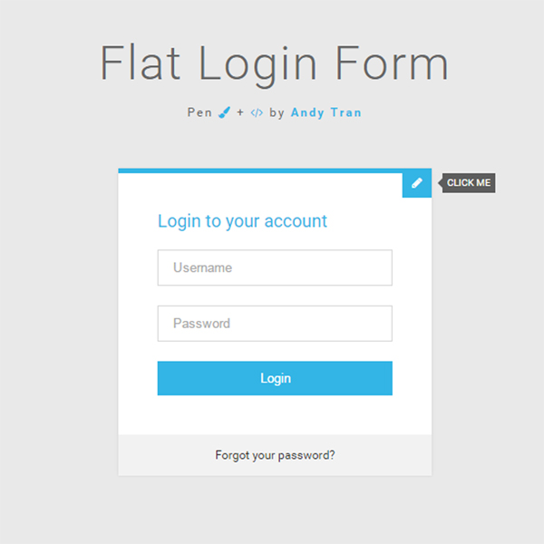 Flat Login - Sign Up Form