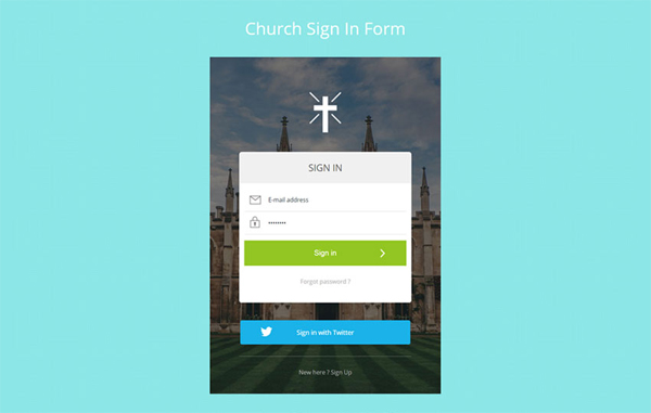 flat-responsive-church-signin-form