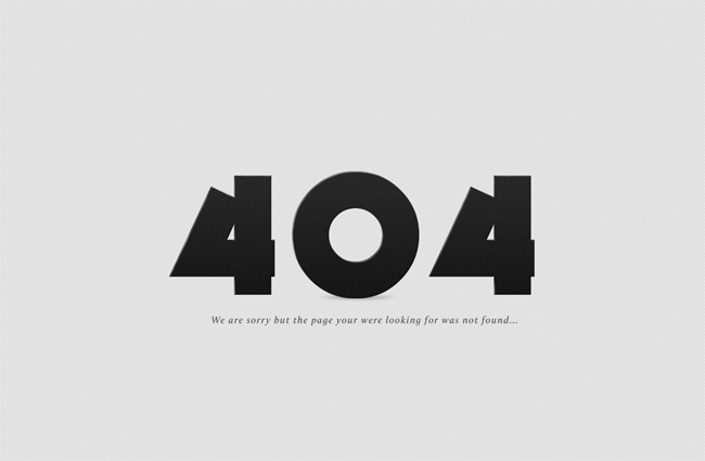 Free 404 Error Page