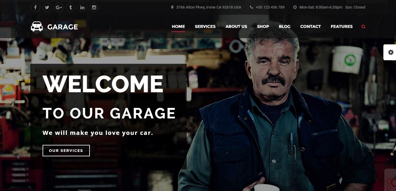 Garage - Automotive WordPress Theme