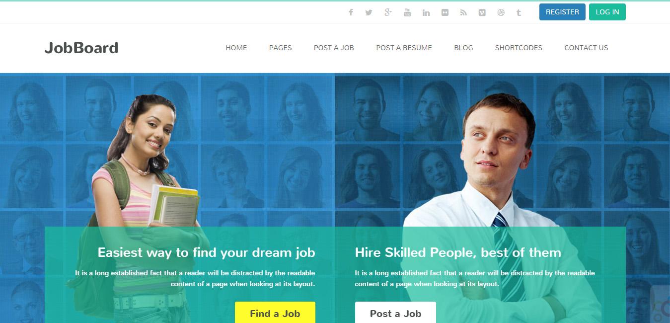 JobBoard - Resume Market WordPress Theme