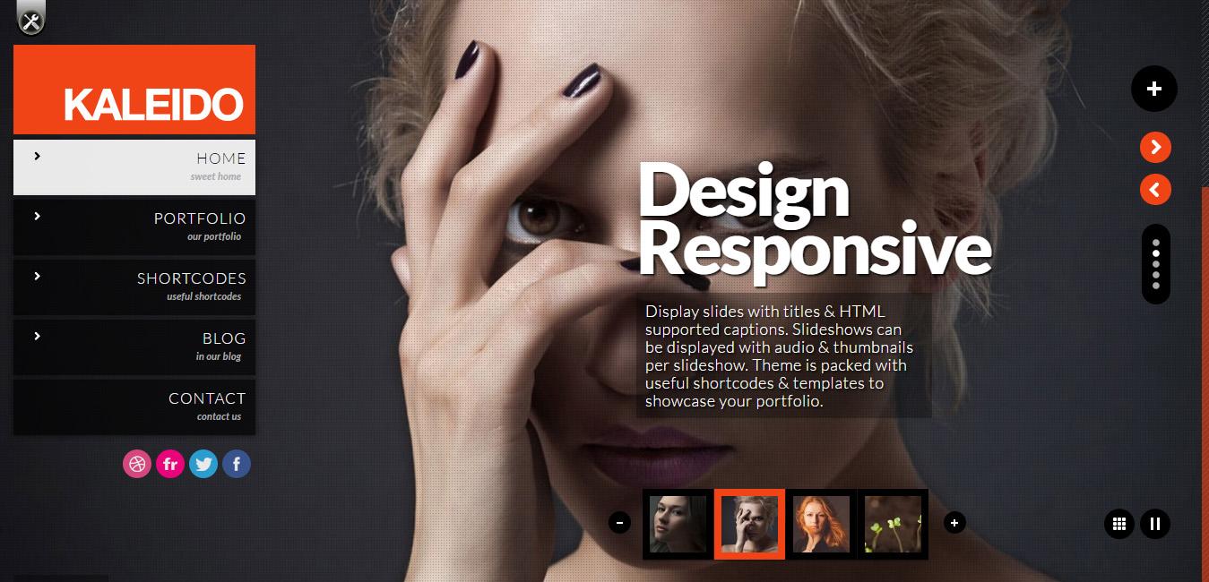 Kaleido Responsive Fullscreen Studio WordPress Theme