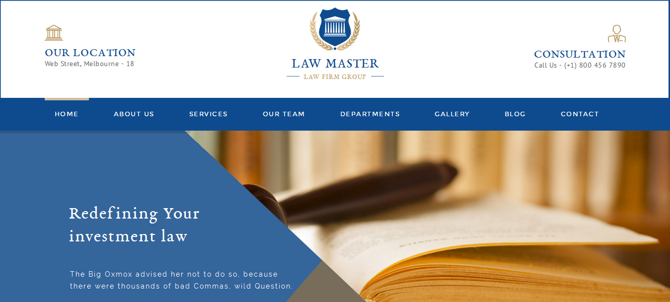 Law Master - Attorney, Legal & Law Business Theme