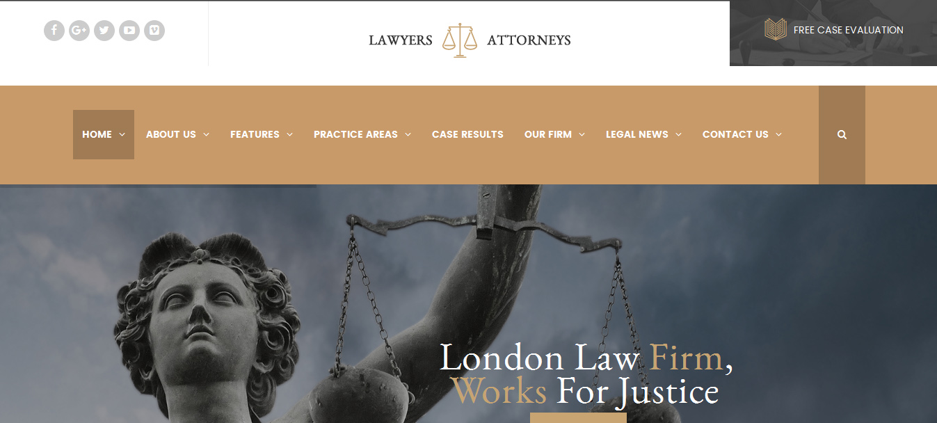 Lawyer Attorneys - Law Office WordPress Theme
