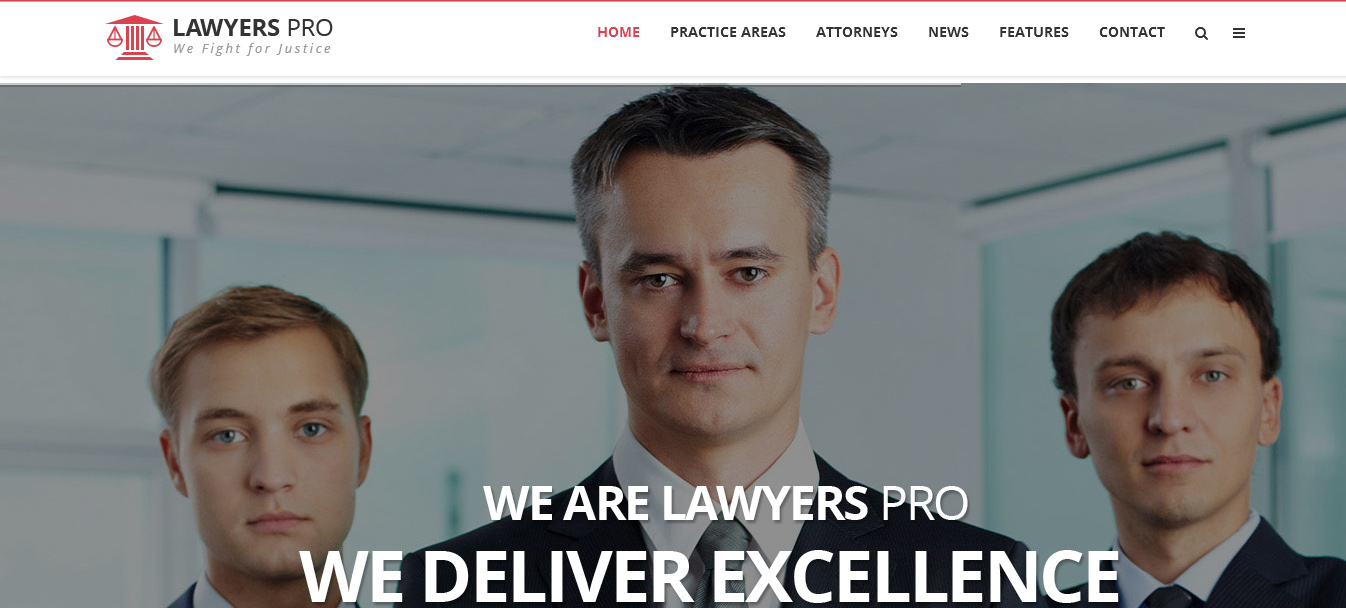 Lawyer Pro - Responsive WordPress Theme