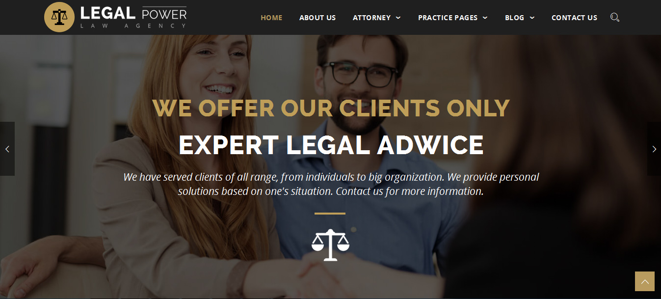 Legal Power - Lawyer Attorney WordPress Theme