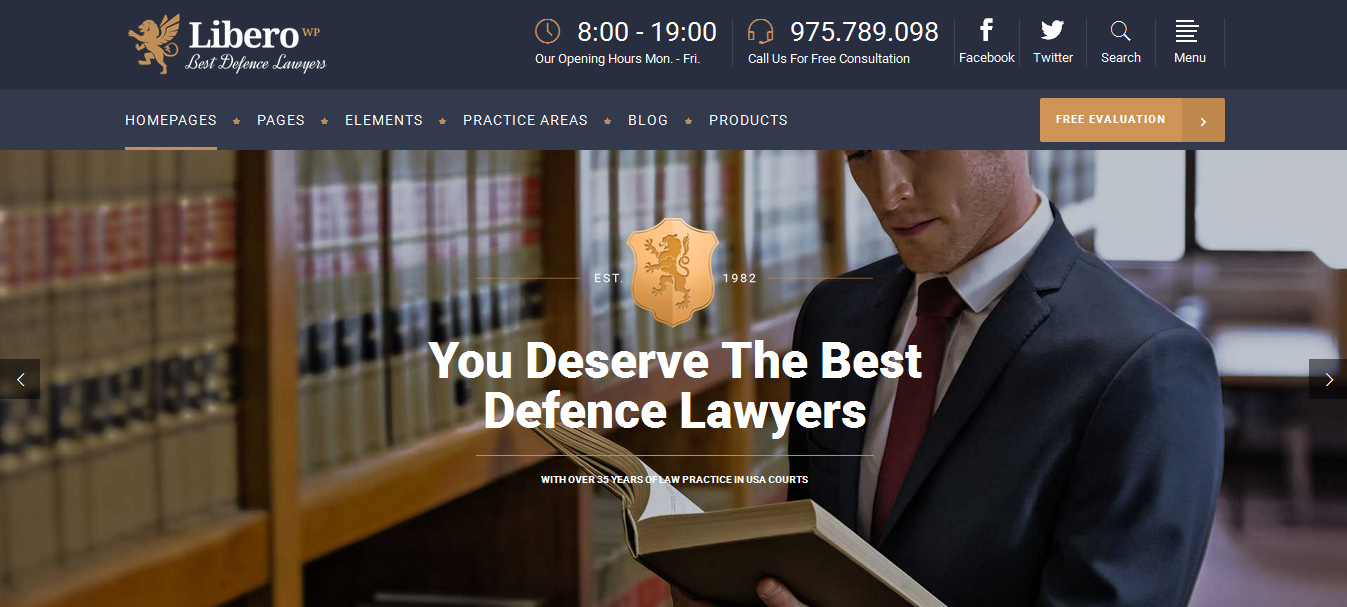 Libero - WordPress Lawyers and Law Firms Theme