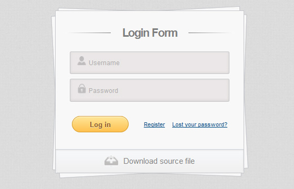 Login Form Using HTML5 and CSS3