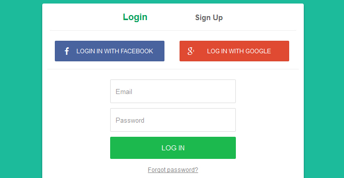 Login, Register Form