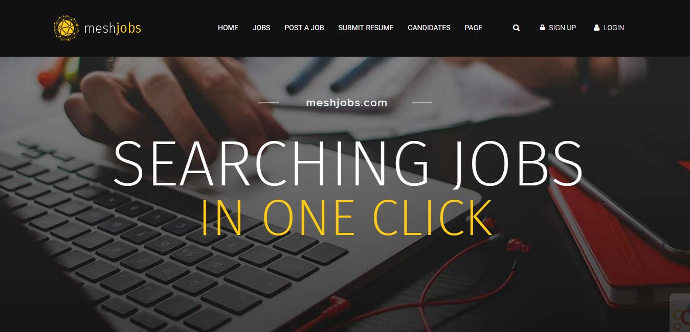 MeshJobs - WordPress Job Portal Themes