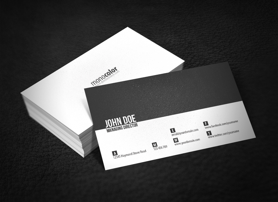 20 best textured business card designs 2017 dovethemes minimal business card colourmoves