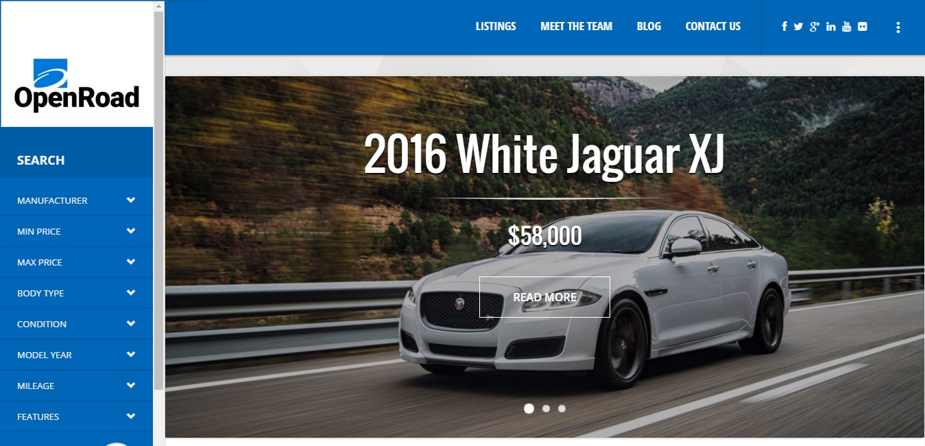 OpenHouse - Car Dealer Responsive Material WordPress Theme