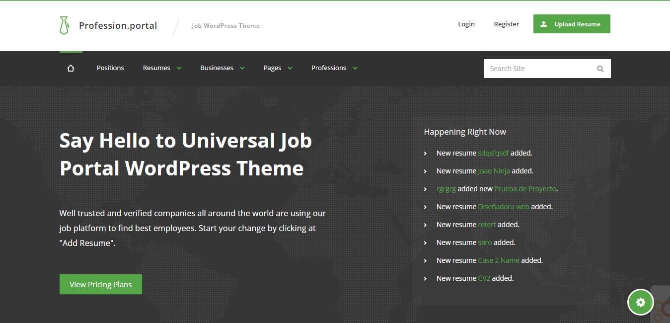 Profession - Job WordPress Theme