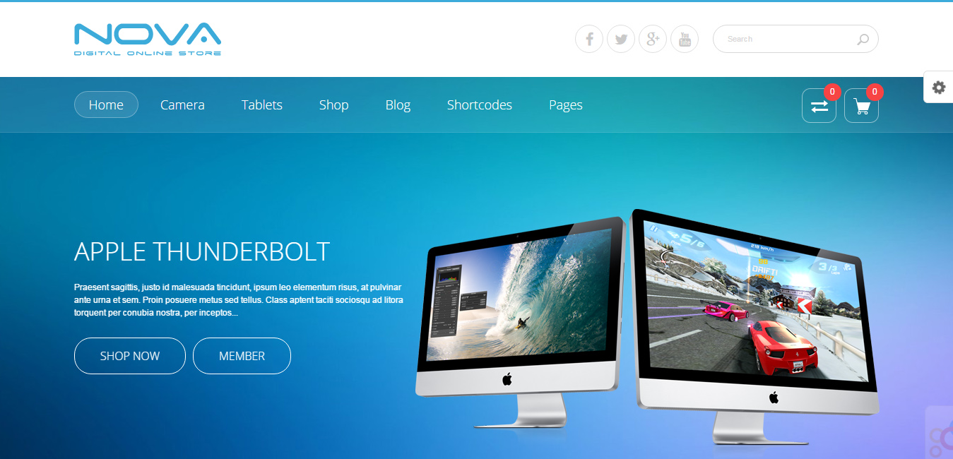 SNS Nova - Digital Store WordPress Theme