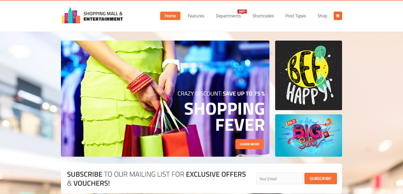 Shopping Mall - Entertainment WordPress Theme