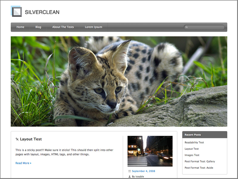 Silverclean Lite - free pet WordPress themes
