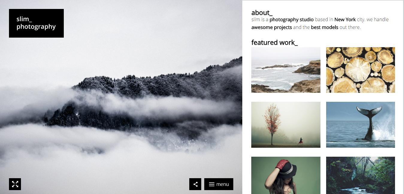 Slim - Photography WordPress Theme