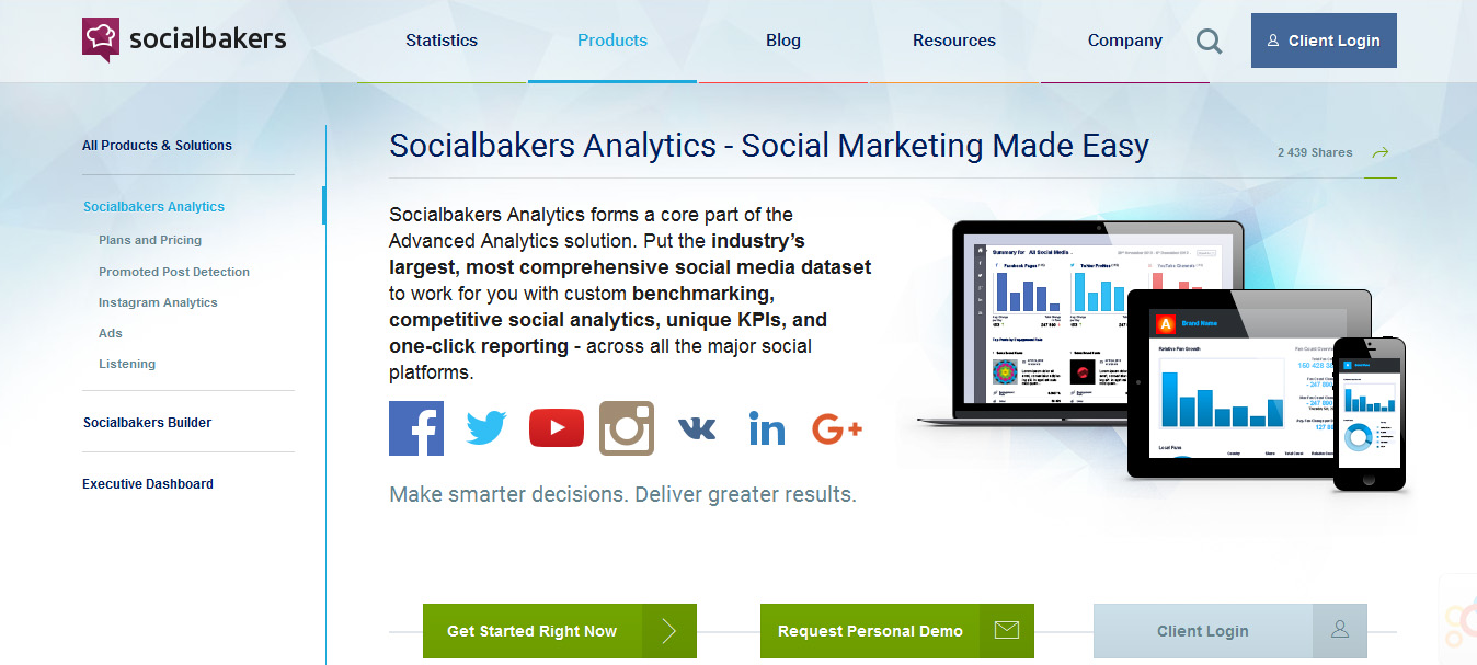 Socialbakers Analytics