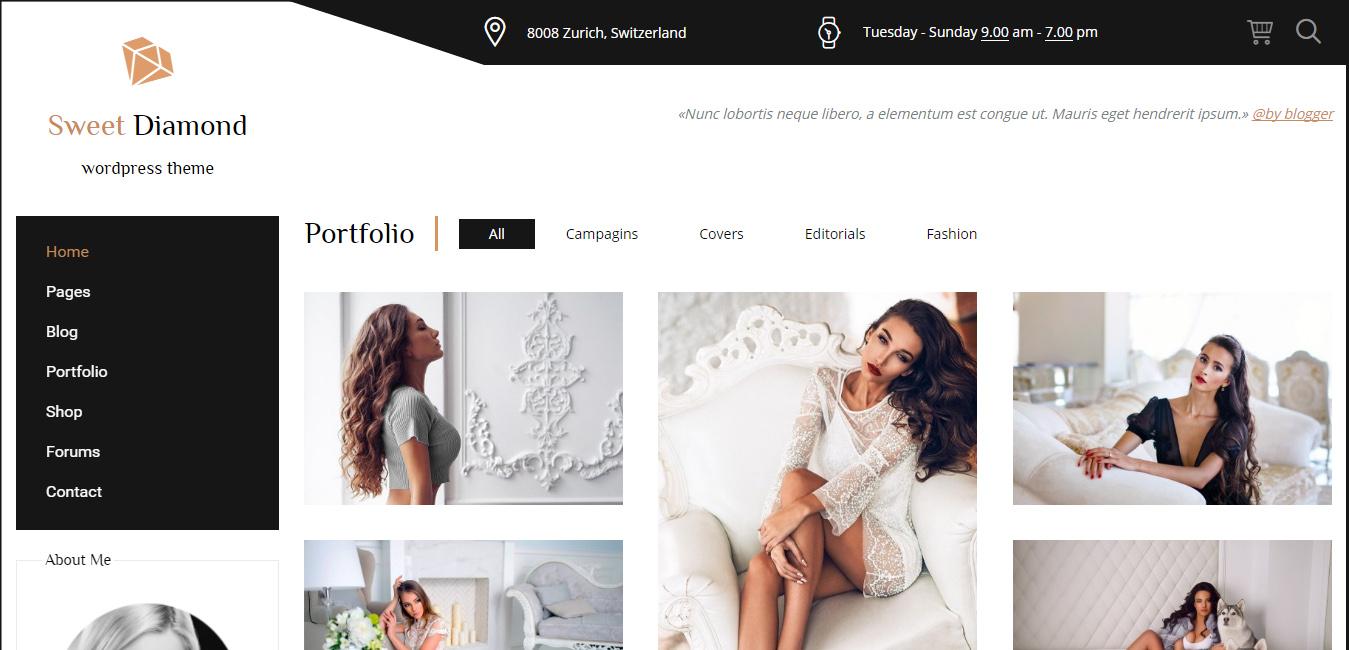 Sweet Diamond - Fashion & Lifestyle Personal Blog Theme