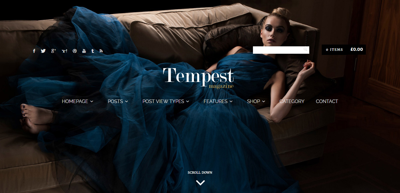 Tempest - street style WordPress themes