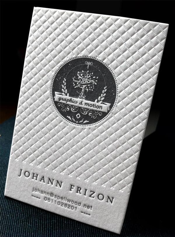 textured letterpress business card design - Textured Business Cards