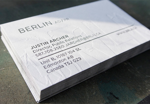20 best textured business card designs 2017 dovethemes textured letterpress business card designs reheart Choice Image