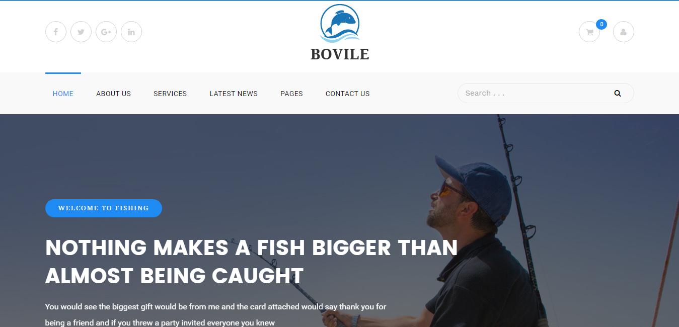 Bovile - Fishing WordPress Theme