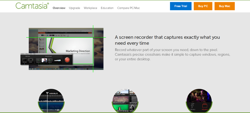 Camtasia - screencasting apps for mac