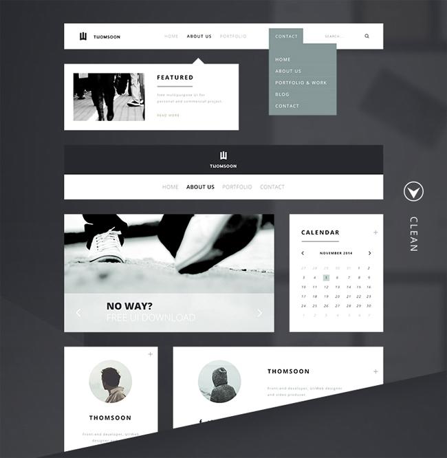 Creative Free Modern UI Kit Ideas