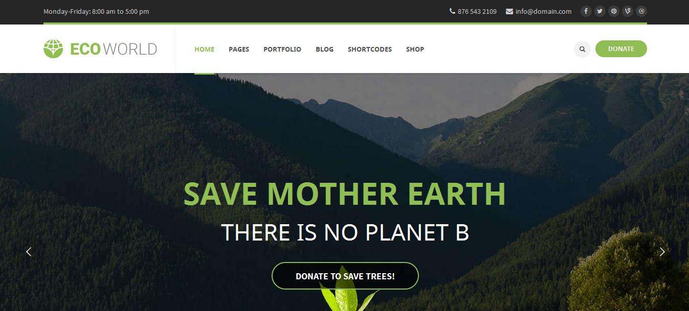 Nature Inspired WordPress Themes