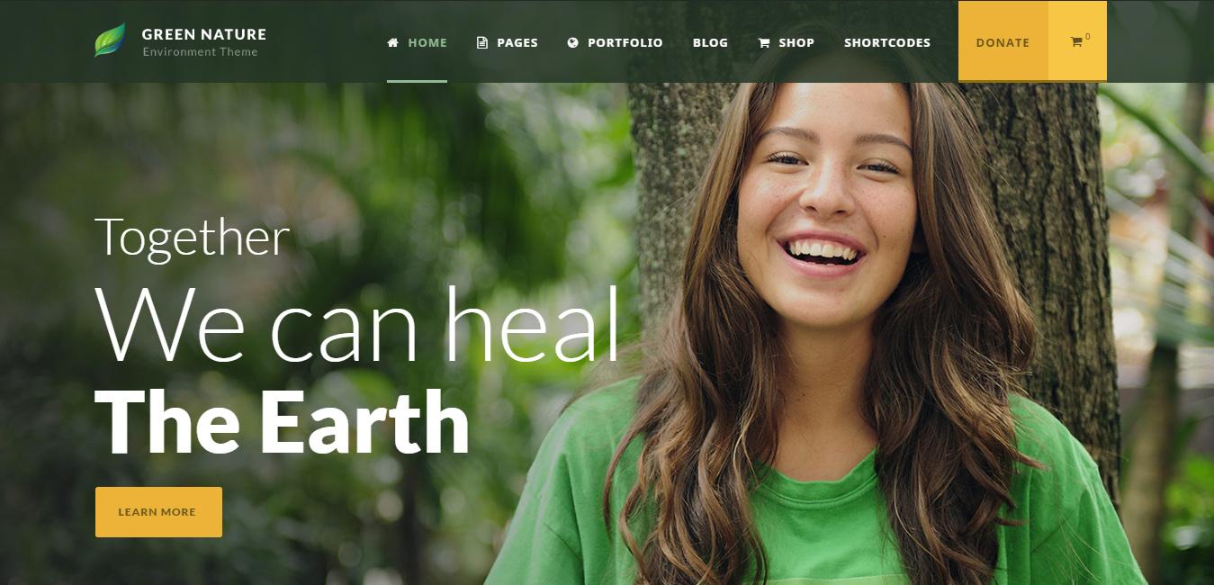 Green Nature - nature inspired WordPress themes