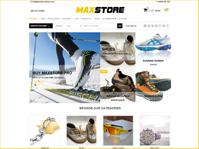 MaxStore - Free eCommerce WordPress Themes