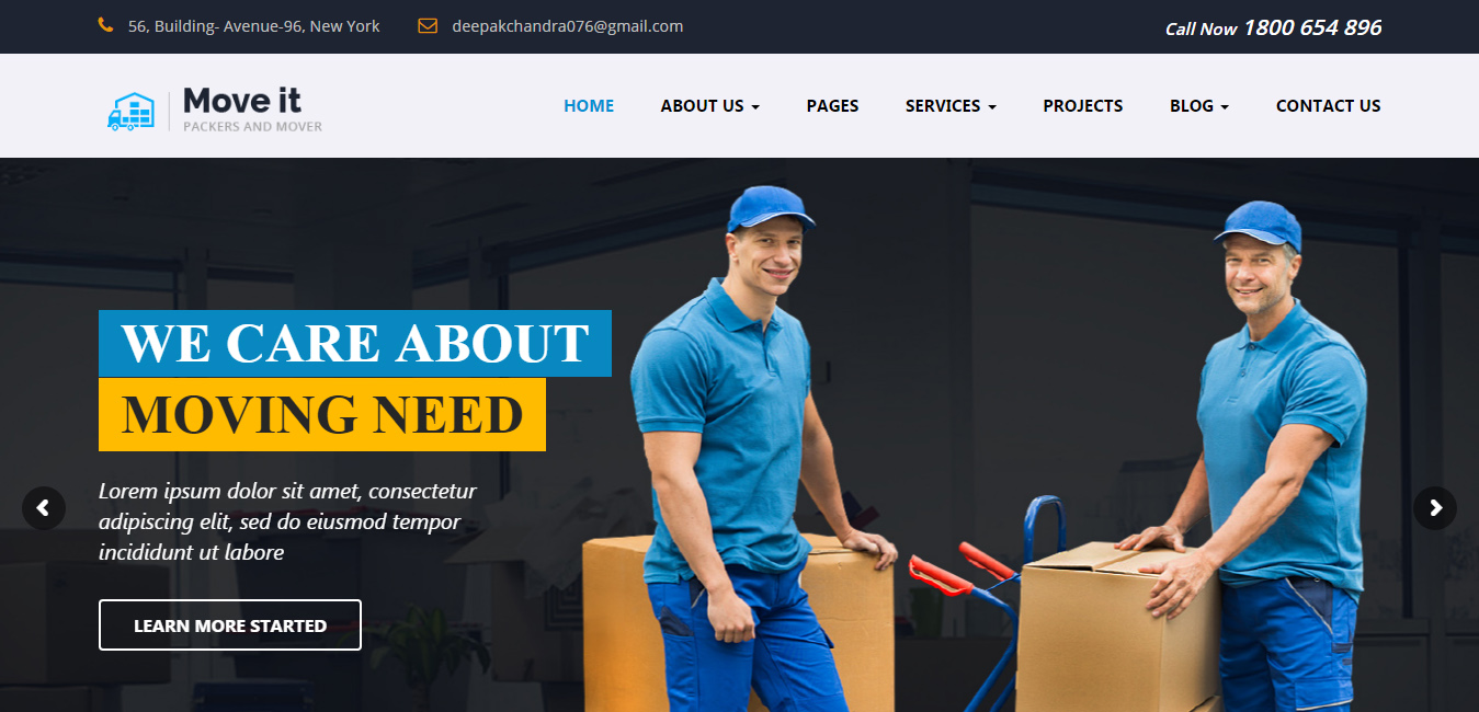MoveIt - Moving Company WordPress Theme