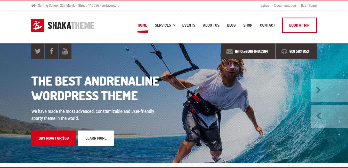 Shaka - Beach Business WordPress Theme