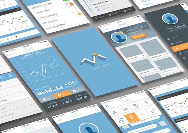 Statistics and Analysis App UI PSD