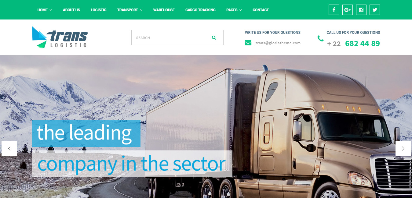 Trans Logistic - Transport & Cargo WordPress Theme