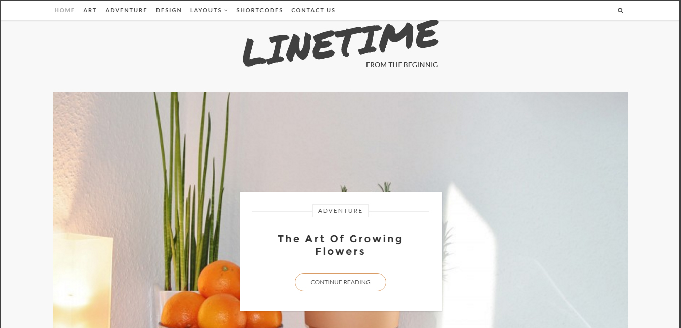 LineTime - Modern Timeline WordPress Blog Theme