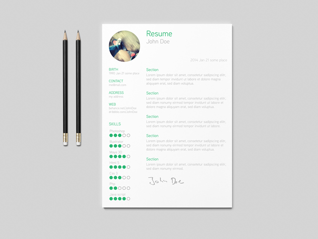 Useful Free Resume Template for Download